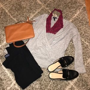 Heathered Grey Womens Sweater from Forever21